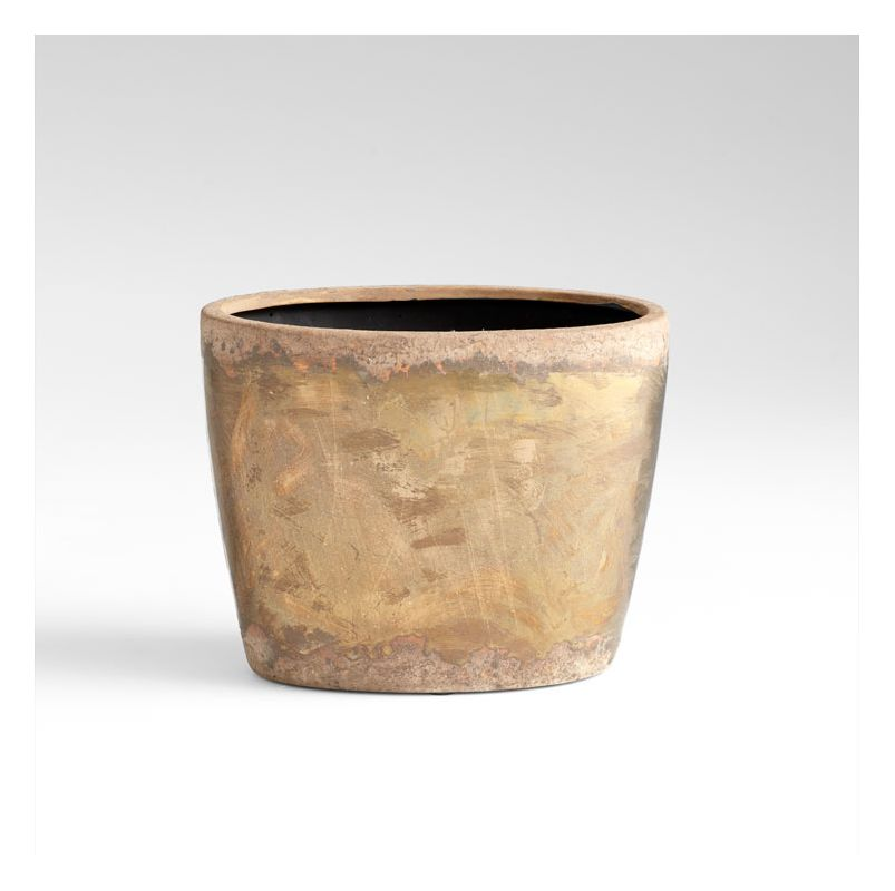 "Cyan Design 05418 7.25"" Small Rosen Planter Bronze Home Decor Planters"