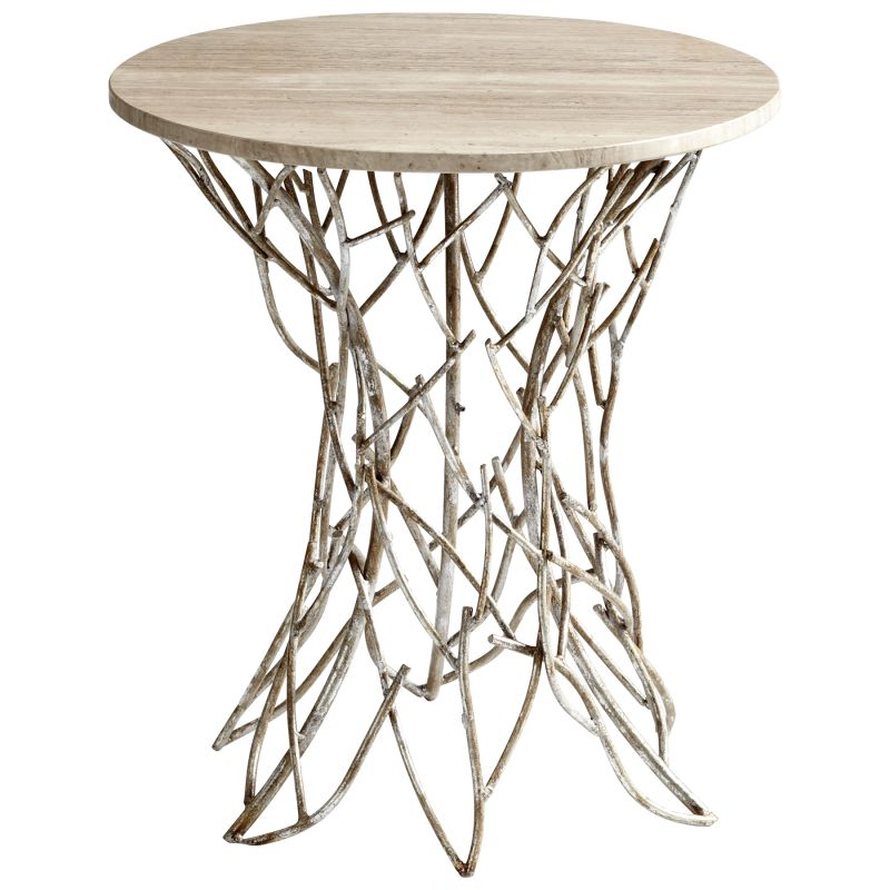Cyan Design 05457 Twigs Side Table Antique Silver Furniture End Tables