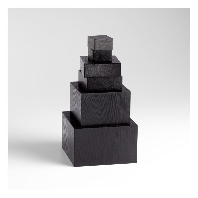 "Cyan Design 05483 5.5"" Art Pedestal Black Veneer Home Decor Statues &"