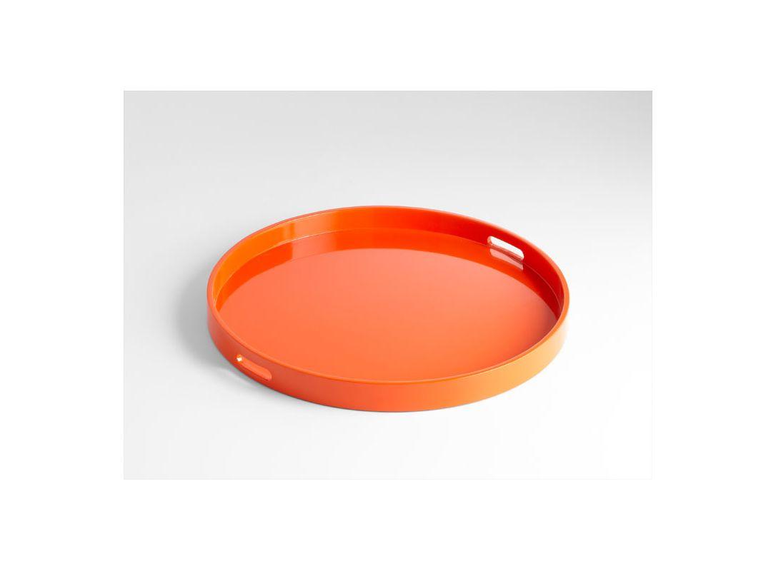Cyan Design 05505 Large Estelle Tray Orange Lacquer Home Decor