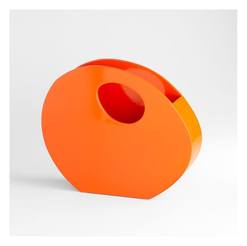 """Cyan Design 05506 15.25"""" Desk Organizer Orange Lacquer Home Decor"""