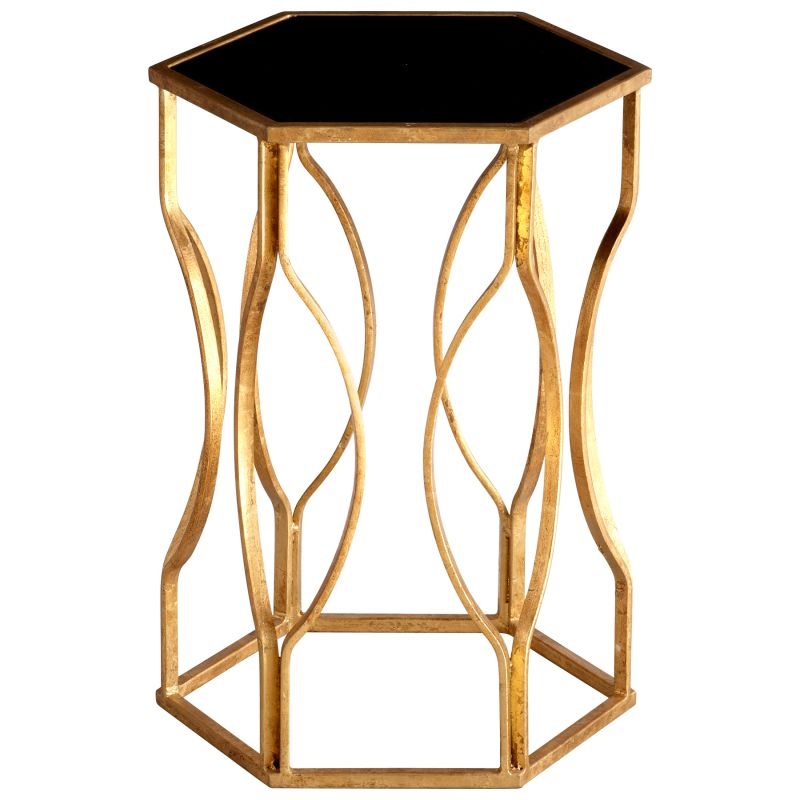 Cyan Design 05516 Anson Side Table Gold Leaf Furniture End Tables