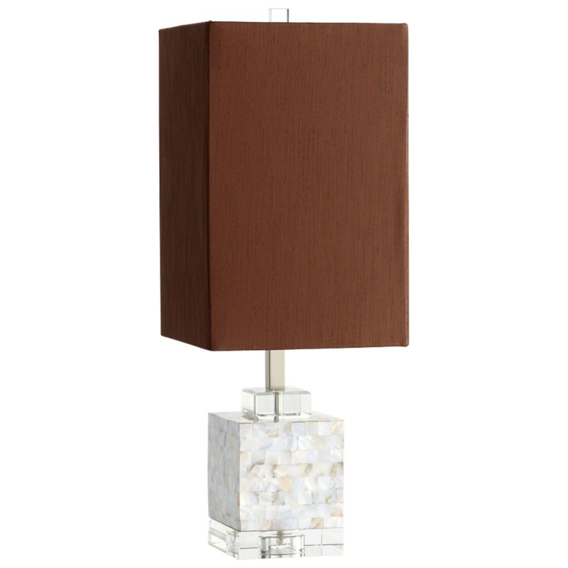 Cyan Design 05567 Johor 1 Light Table Lamp Silver Grey Smoke Lamps