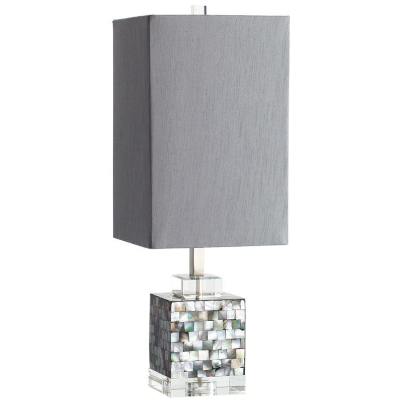 Cyan Design 05568 Johor 1 Light Table Lamp Silver Grey Smoke Lamps