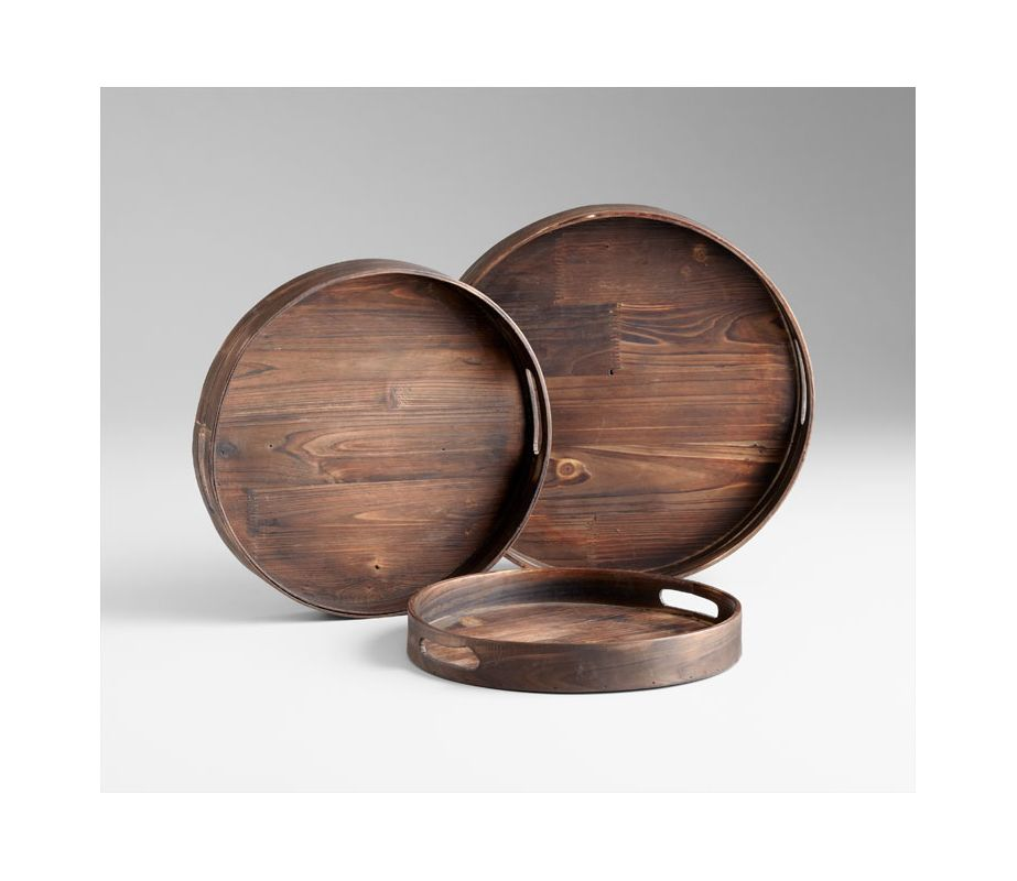 "Cyan Design 05589 16"" Dupre Trays Walnut Home Decor Decorative Trays"