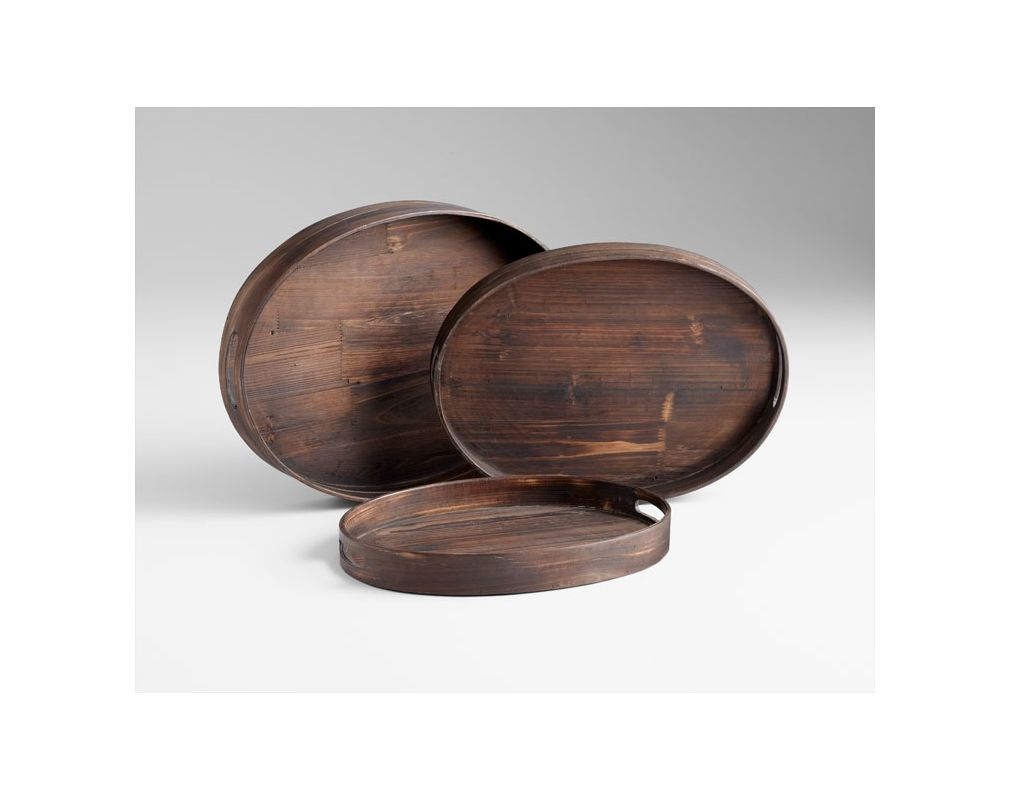 "Cyan Design 05590 18"" Dupre Trays Walnut Home Decor Decorative Trays"