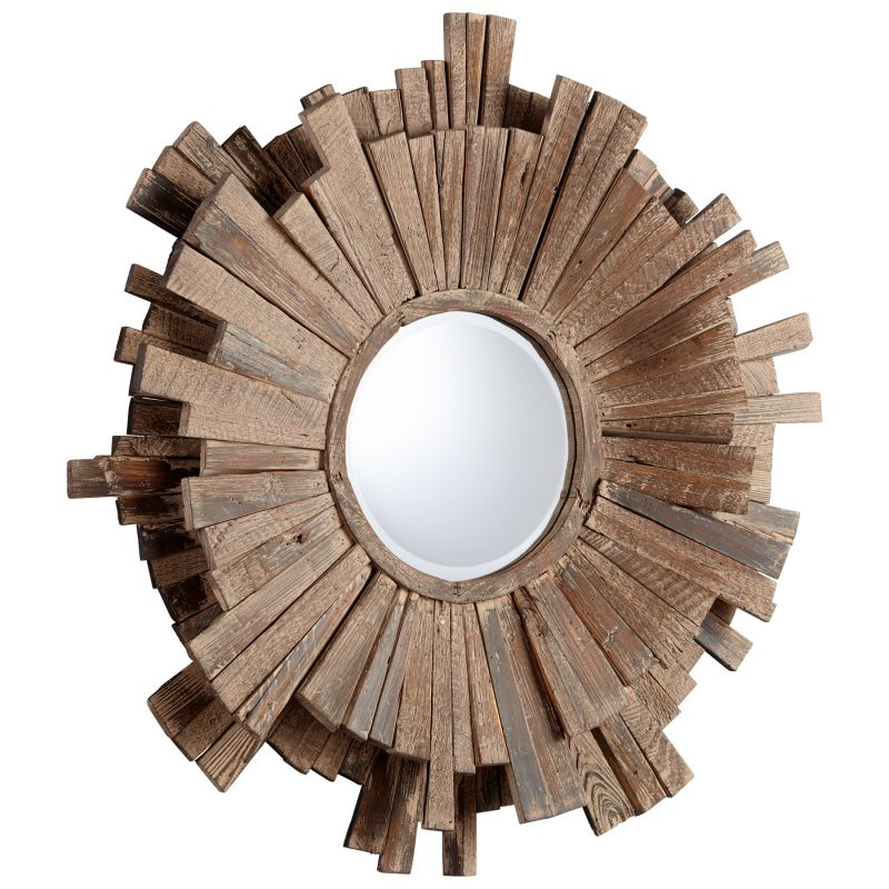 Cyan Design 05593 Polk Rounded Mirror Walnut Home Decor Lighting