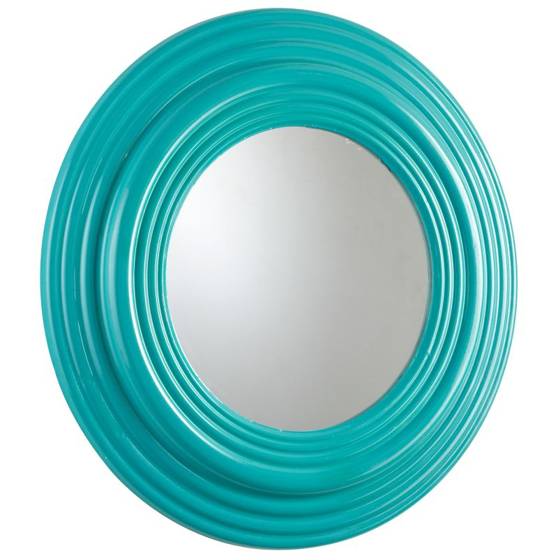 Cyan Design 05609 Cain Rounded Mirror Cyan Blue Home Decor Lighting