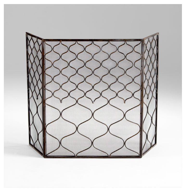 Cyan Design 05616 Blakewell Firescreen Bronze Home Decor Fire Screens