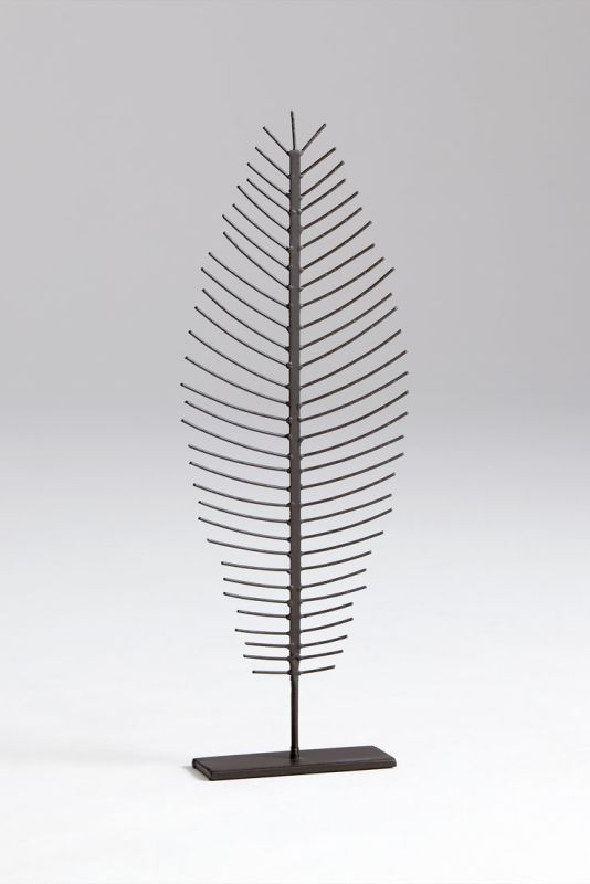 "Cyan Design 05625 28.25"" Small Skeleton Leaf Graphite Home Decor"