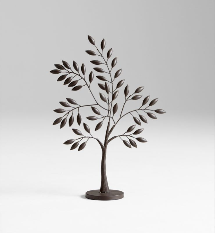 "Cyan Design 05638 24.5"" Medium Sapling Tree Sculpture Graphite Home"