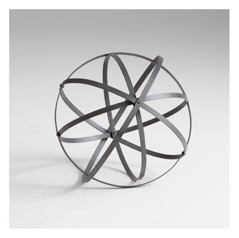 "Cyan Design 05652 21.5"" Medium Sphere Rustic Gray Home Decor Bowl &"