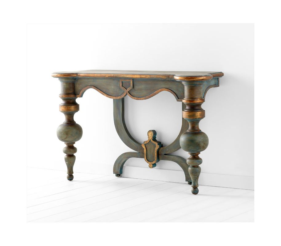 Cyan Design 05695 Lacroix Console Table Antiquarian Blue Furniture Sale $1572.50 ITEM#: 2264868 MODEL# :5695 UPC#: 190808018779 :