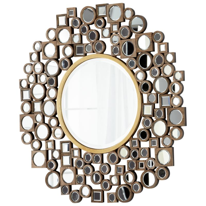Cyan Design 05705 Jorn Rounded Mirror Clear and Gold Home Decor