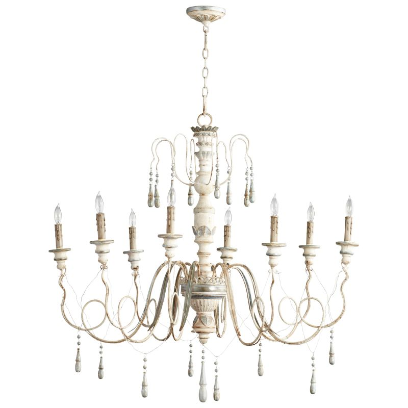 Cyan Design 05714 Chantal 8 Light 1 Tier Chandelier Parisian Blue