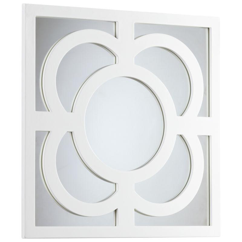 Cyan Design 05729 Bowsher Rectangular Mirror White Lacquer Home Decor
