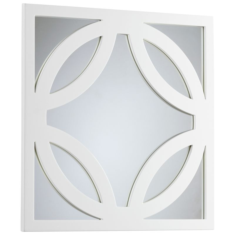 Cyan Design 05730 Brodax Rectangular Mirror White Lacquer Home Decor