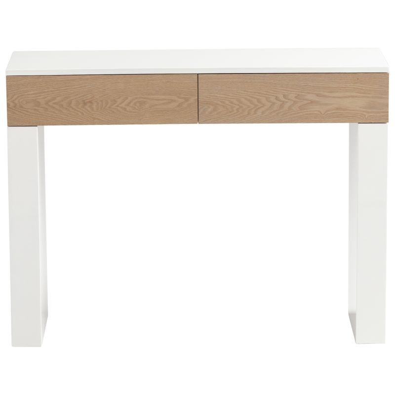 Cyan Design 05734 Lautner Console Table Grey Veneer and White
