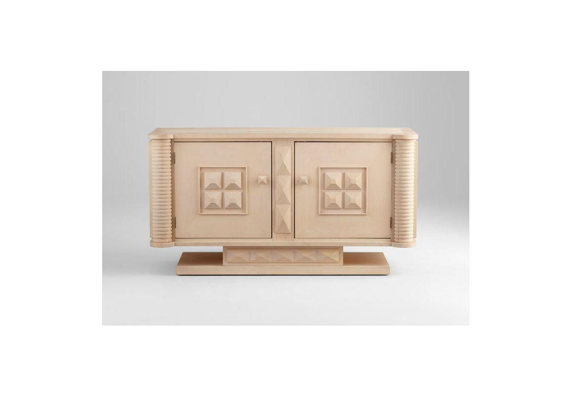Cyan Design 05743 Wexler 2 Door Cabinet White Wash Maple Furniture