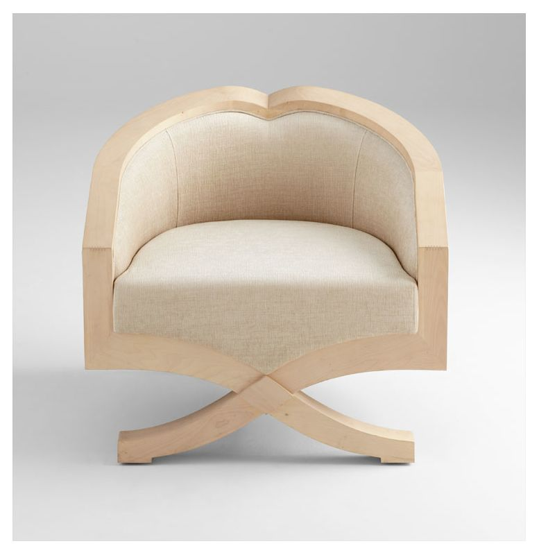 Cyan Design 05747 Ms. Jolie Chair White Wash Maple Furniture Arm
