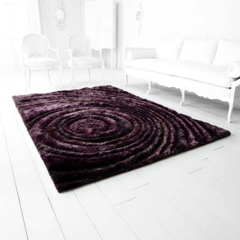Cyan Design Giraree Arte Viola Polyester Hand Tufted Rug 5 x 7.5 home