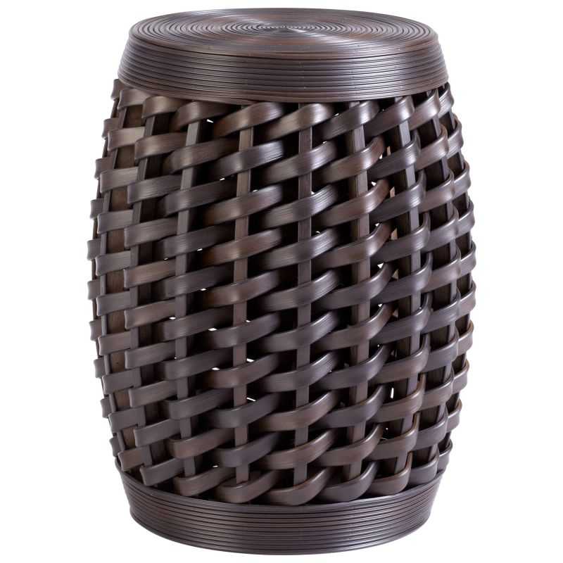 "Cyan Design 05809 19"" Woven Sienna Stool Espresso Furniture Stools"
