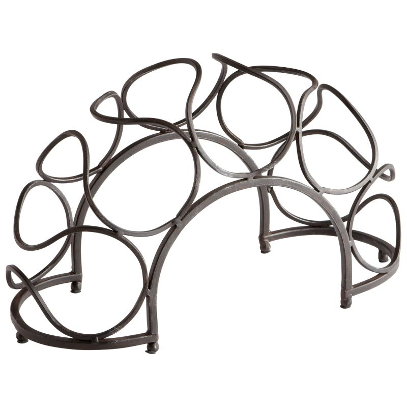 "Cyan Design 05815 9.5"" Bridge Wine Rack Black Bronze Furniture Wine"