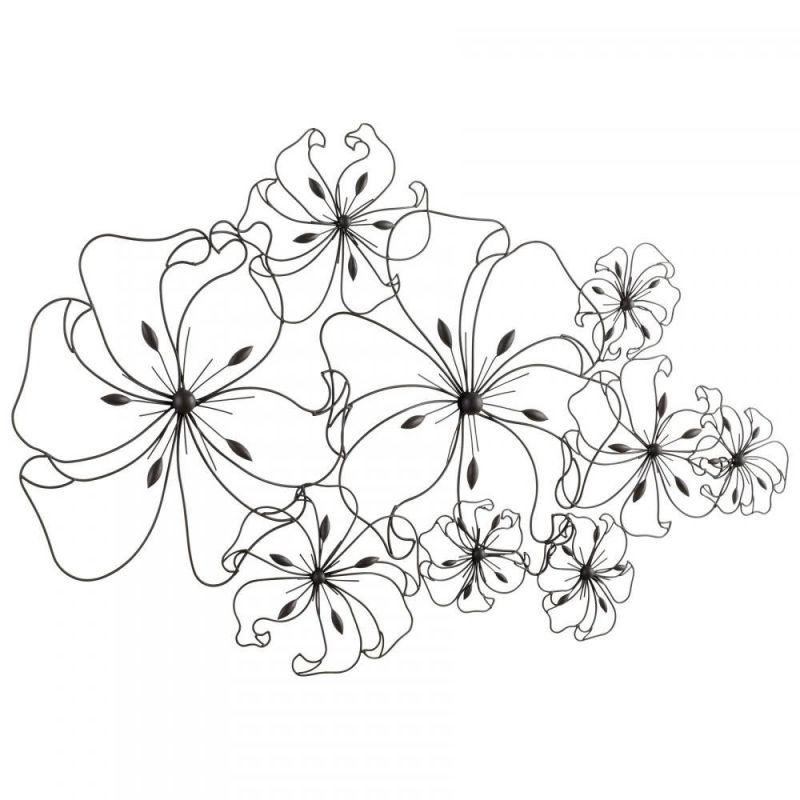 """Cyan Design 05833 31"""" Six Flower Fancy Wall Art Graphite Home Decor"""