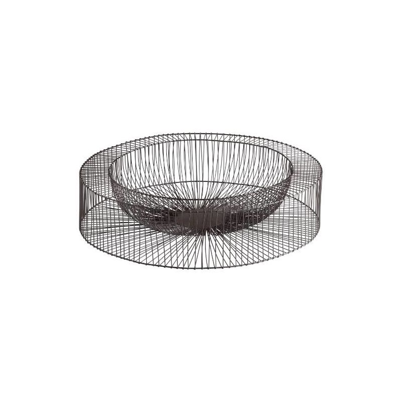 "Cyan Design 05834 21"" Large Wire Wheel Tray Graphite Home Decor"