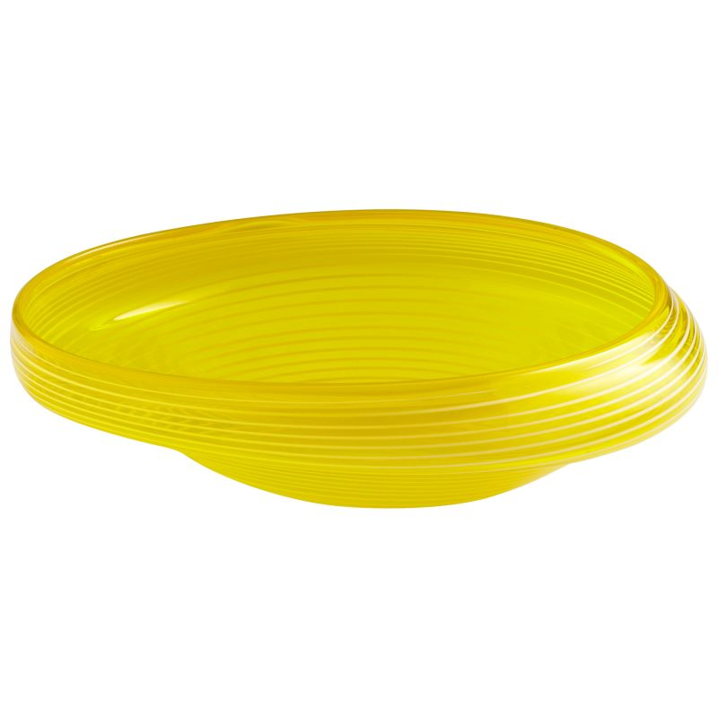 "Cyan Design 05861 17"" x 15.5"" Small Lemon Drop Bowl Yellow Home Decor"