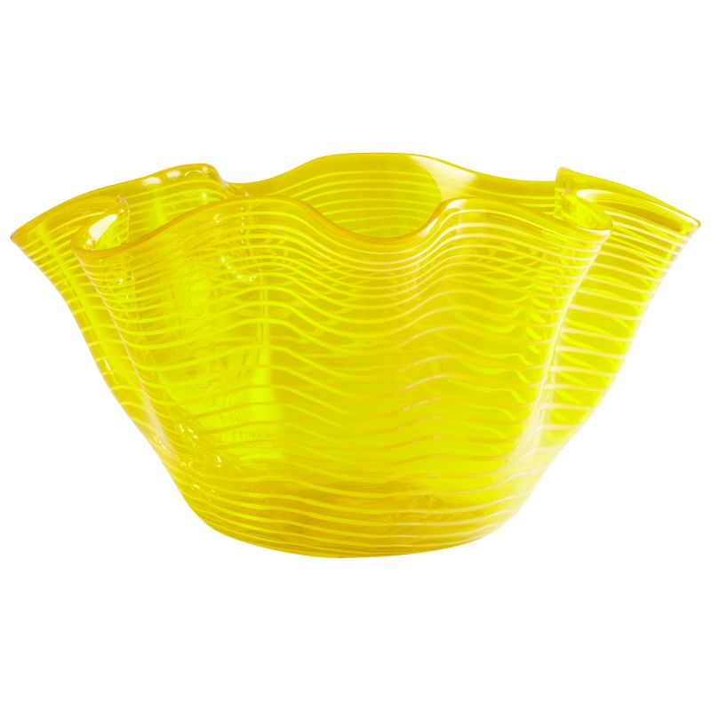 "Cyan Design 05863 20"" x 20"" Yellow Scallop Bowl Yellow Home Decor"