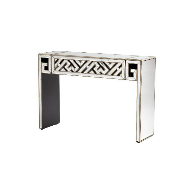 "Cyan Design 05940 36"" x 15.75"" Deco Divide Console Clear / Gold"