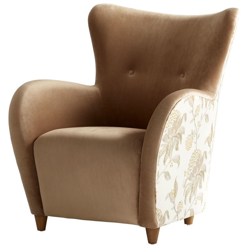 "Cyan Design 08339 Throne Le Fleur 37"" Tall Wood and Foam Accent Chair"