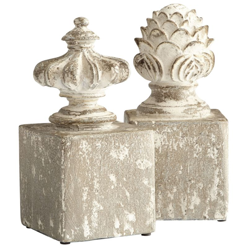 "Cyan Design 08691 Victoria 11"" Tall Cement Bookends - Set of 2 Antique"