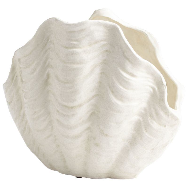 "Cyan Design 08705 Michelle My Shell 15"" Tall Ceramic Planter White"