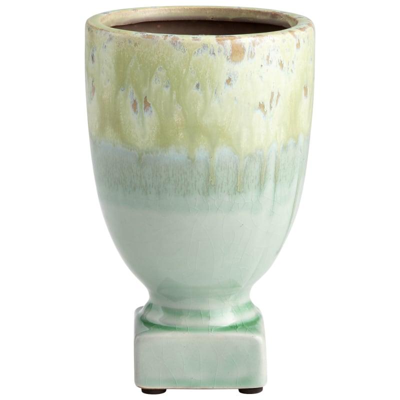 "Cyan Design 08744 Bella Delta 8"" Tall Terra Cotta Planter Green Glaze"