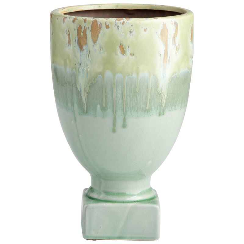 "Cyan Design 08746 Bella Delta 11"" Tall Terra Cotta Planter Green Glaze"