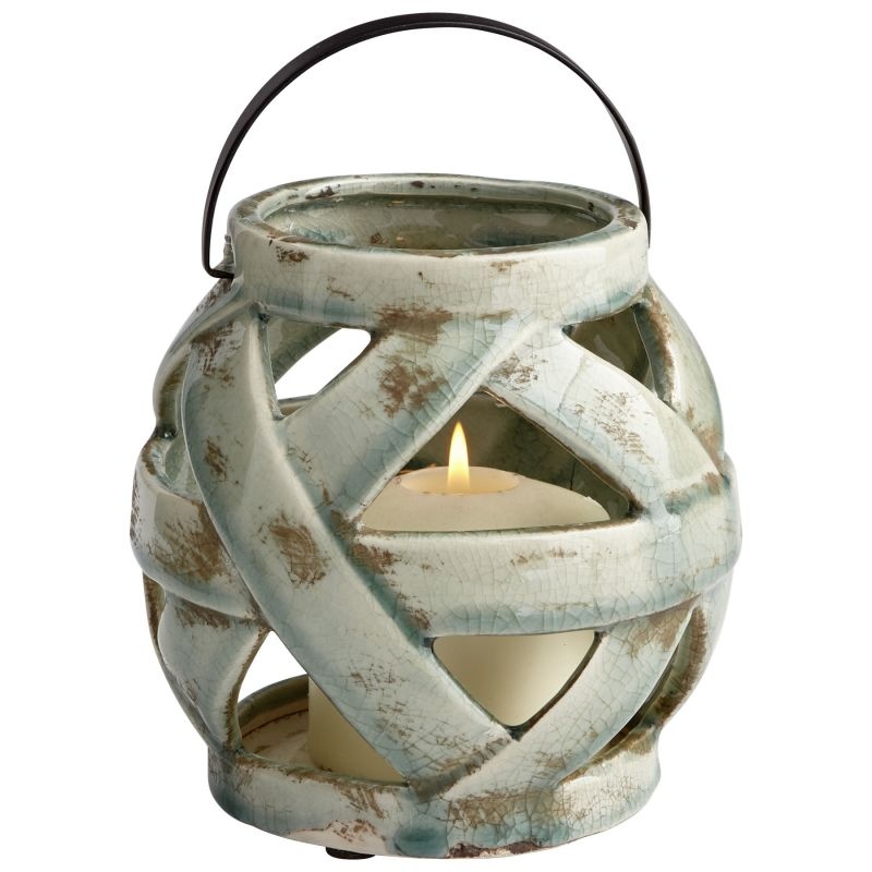 "Cyan Design 08758 Intertwined 6"" Tall Terra Cotta Candle-Holder with"