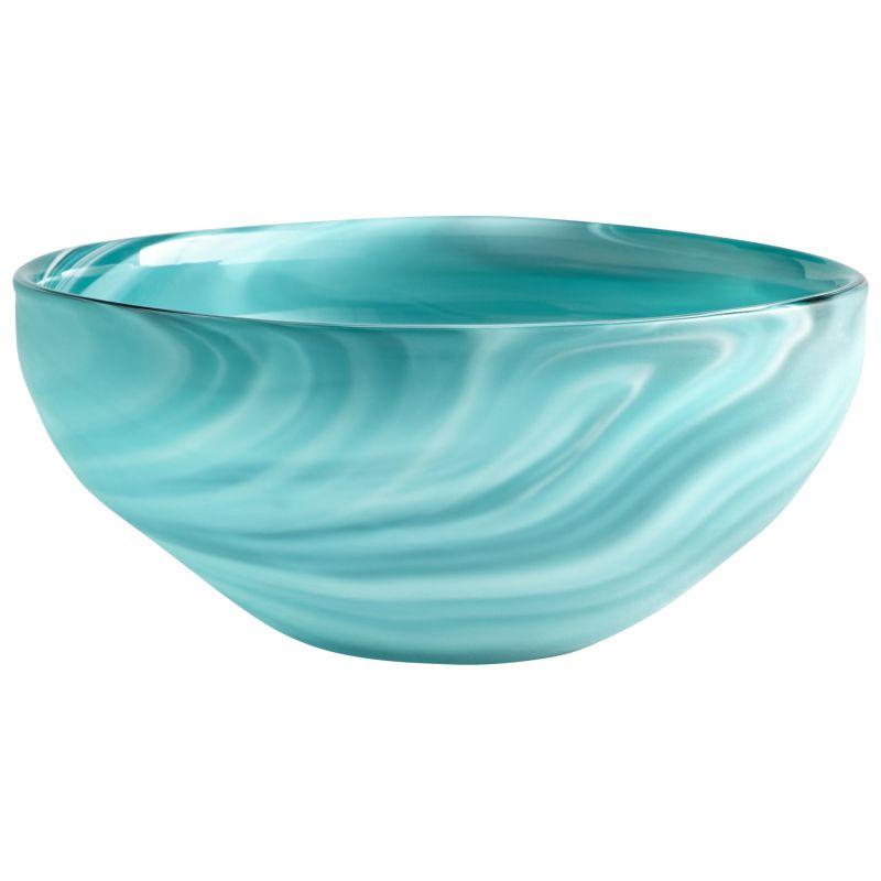 "Cyan Design 08782 Sea Swirl 5"" Tall Glass Blue-Green Swirl Decorative"