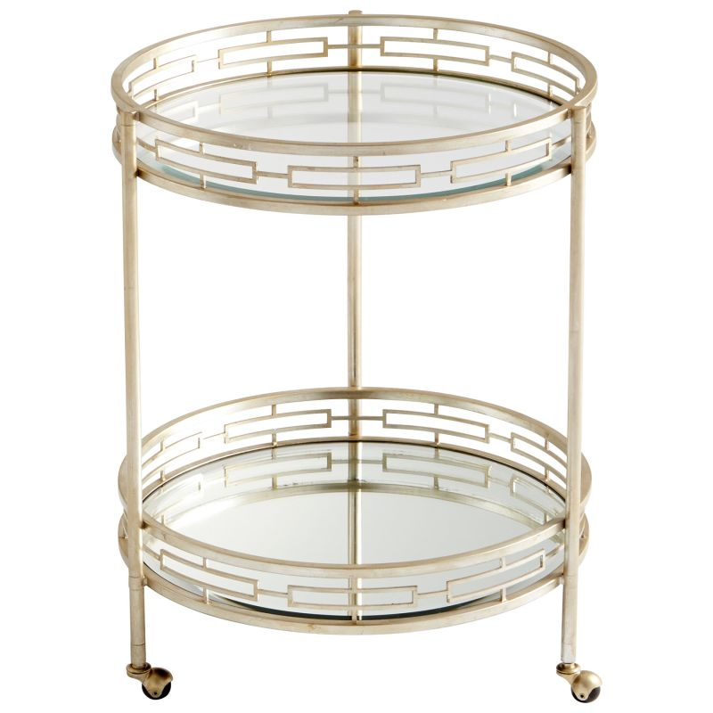 "Cyan Design 08831 Meridian 33"" Tall X 25"" Wide Iron and Glass Bar"