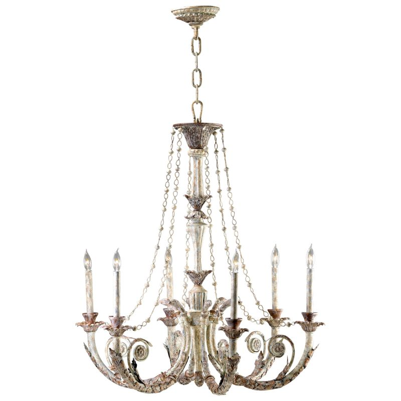 Cyan Design 6491-6-28 Abelle 6 Light 1 Tier Chandelier White and Lime Sale $1245.00 ITEM#: 2257698 MODEL# :1677009 UPC#: 190808000910 :
