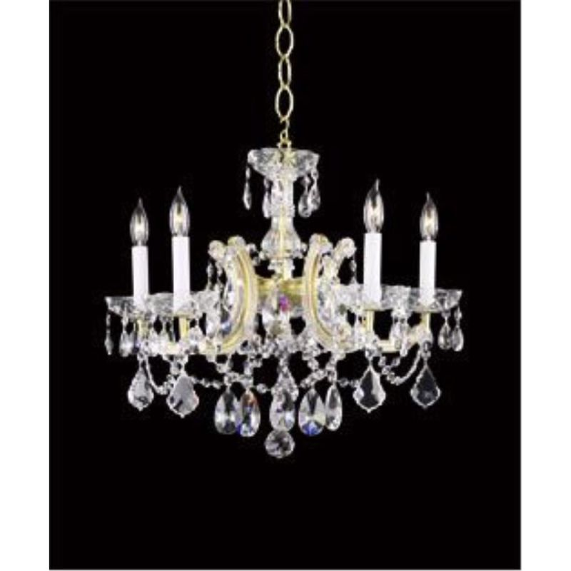 "Cyan Design 650-5 17.25"" Five Lamp Chandelier from the Maria Theresa"