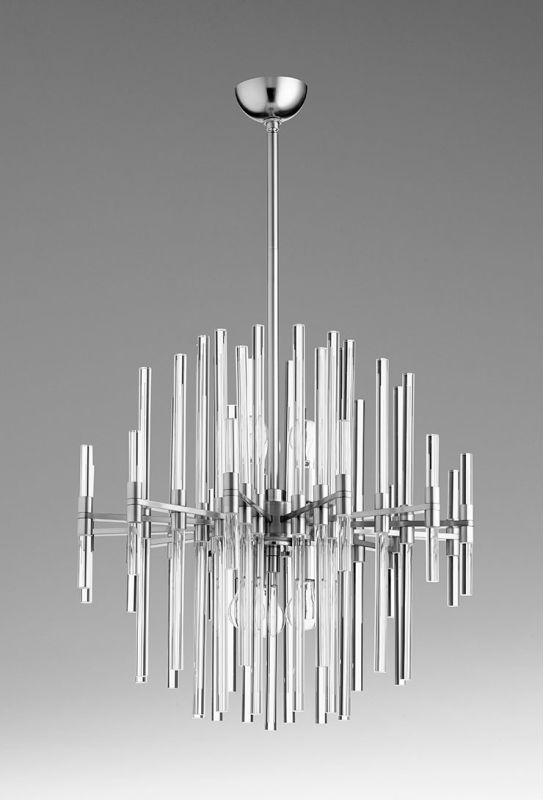 Cyan Design 07626 Quebec Six Light Pendant Satin Nickel Indoor