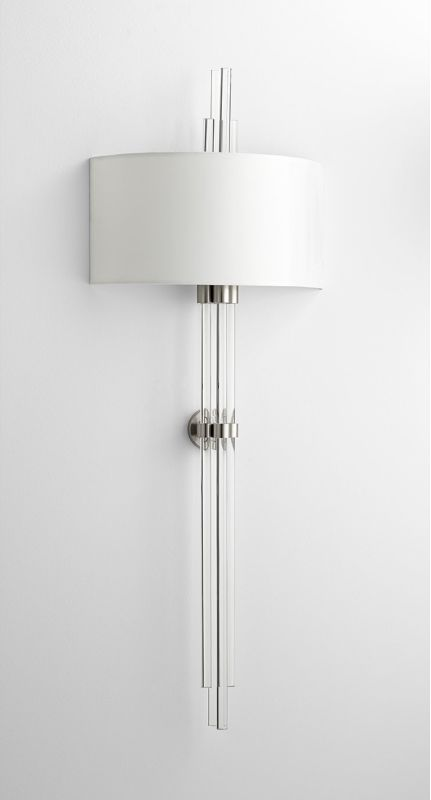 Cyan Design 07622 Quebec 2 Light Wall Sconce Satin Nickel Indoor