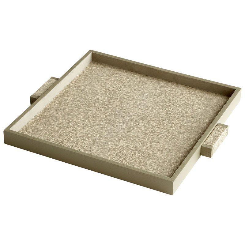 Cyan Design Medium Brooklyn Tray Brooklyn 18 Inch Wide Leather and