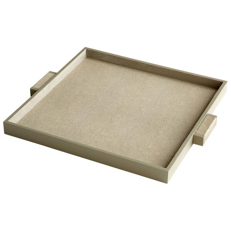 Cyan Design Large Brooklyn Tray Brooklyn 22.25 Inch Wide Leather and