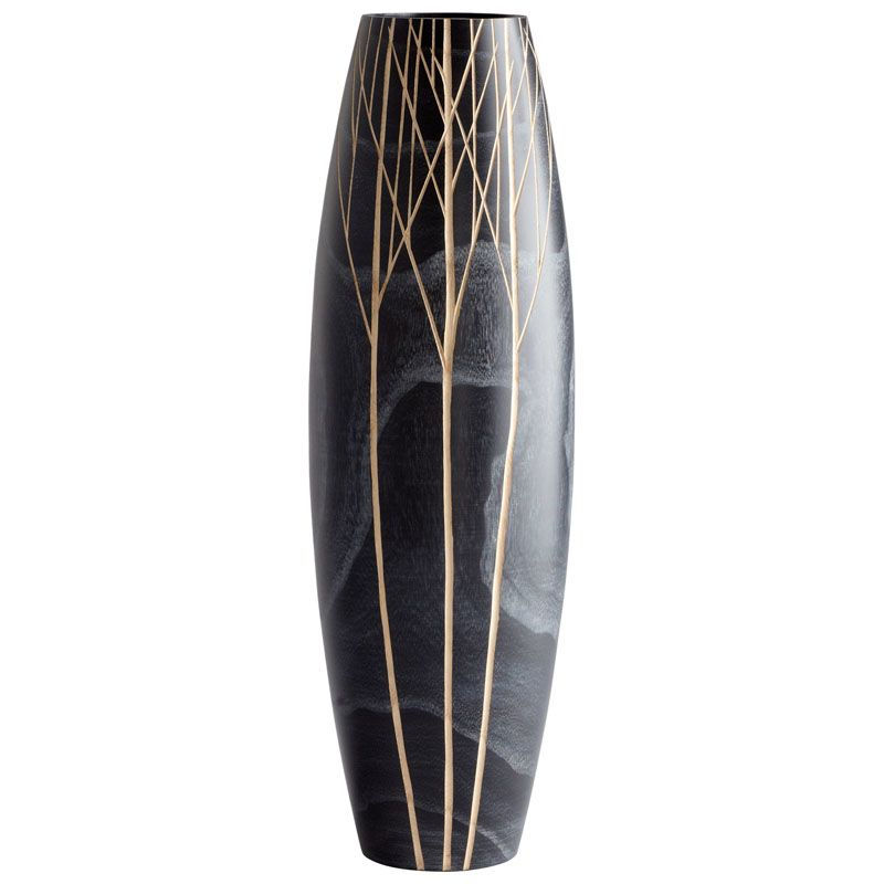 Cyan Design Medium Onyx Winter Vase Onyx Winter 18 Inch Tall Wood Vase