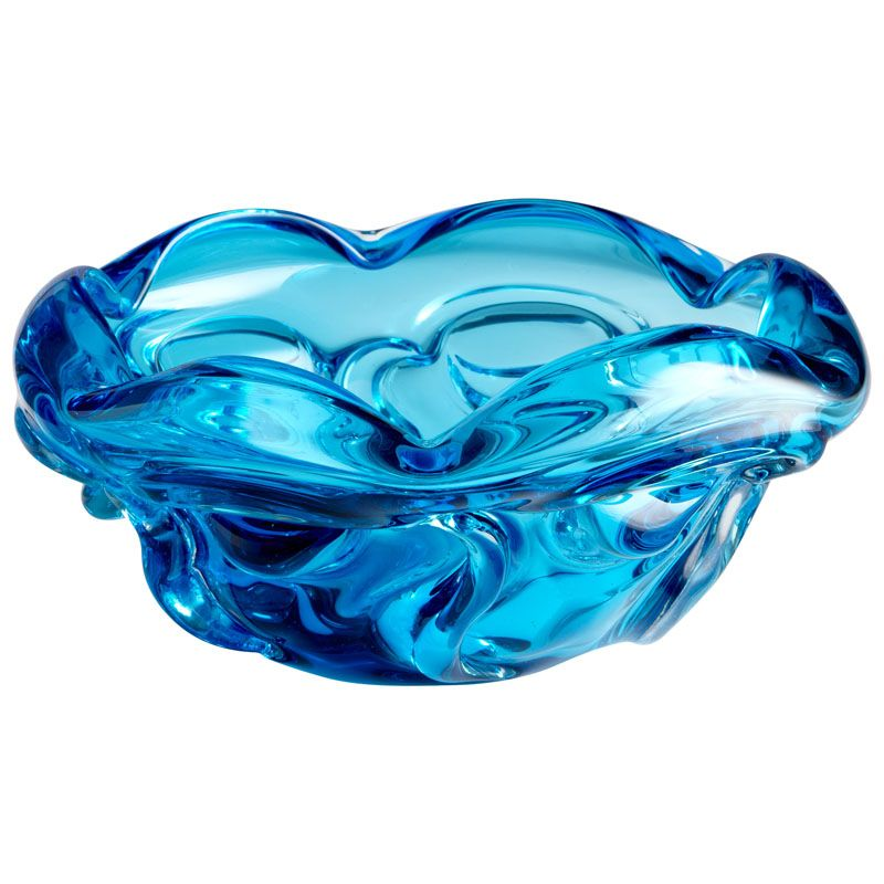 Cyan Design Medium Water Pod Bowl Water Pod 10 Inch Diameter Glass