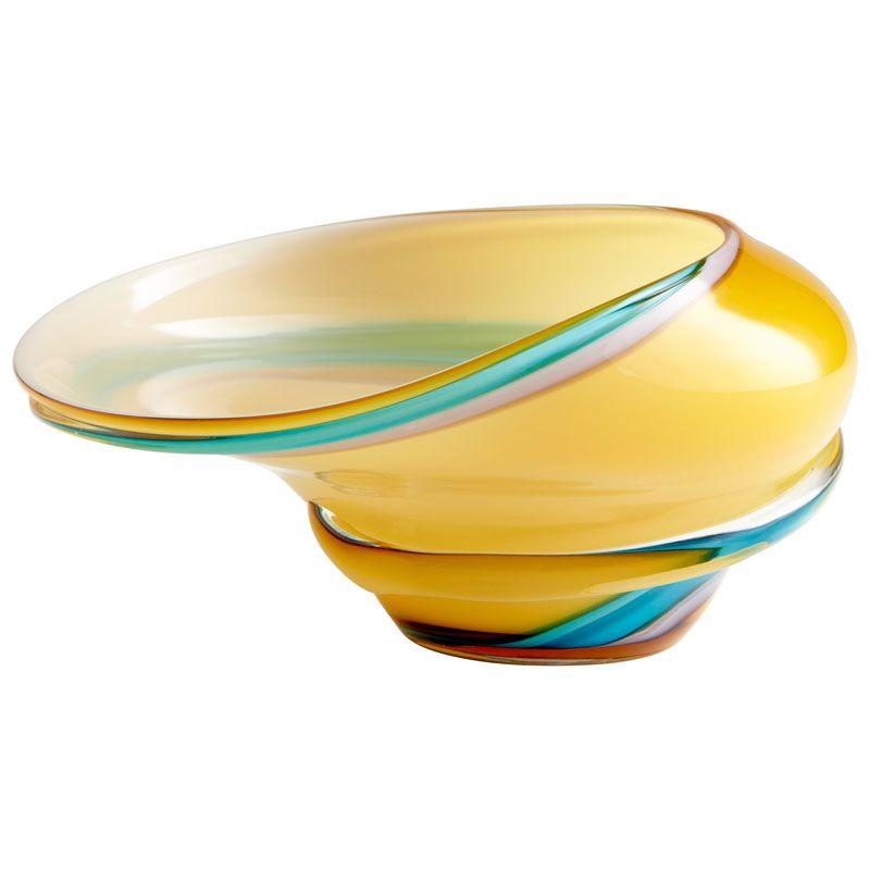 Cyan Design Small Cali Bowl Cali 10.75 Inch Wide Glass Decorative Bowl