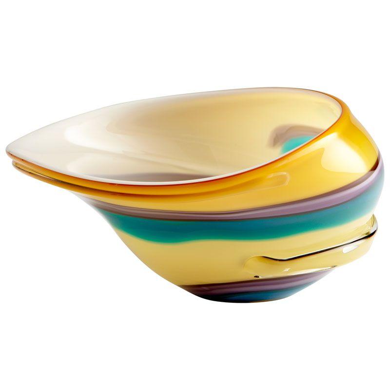Cyan Design Large Cali Bowl Cali 15 Inch Wide Glass Decorative Bowl